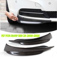 JIOYNG Carbon Fiber CAR FRONT BUMPER SPLITTERS LIP SPOILER SIDE APRONS FIT FOR BMW E89 Z4 2009 2010 2011 2012 2013 2014 2015