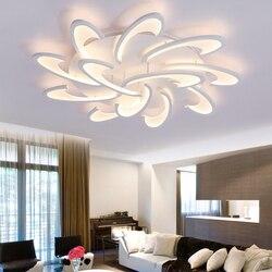 Nowoczesne led zamontowane lampy sufitowe ac110v  220 v oprawy oświetleniowe do salonu sypialni jadalni oświetlenie domu