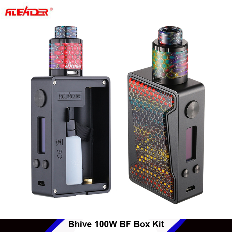 E Cigs kit Aleader Bhive 100W BF Squonker Box TC Mod Kit Squonk e-cigarette mod with Resin panel 7ml vs vandyvape pulse 80w original hotcig squonk box mod bf rsq 80w rsq squonk box mod rsq 80w box mod
