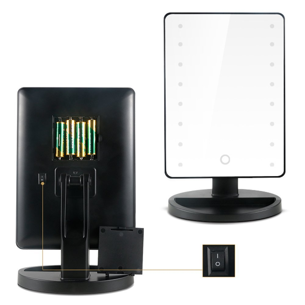 Top quality touch screen led lighted vanity cosmetic mirror touch screen led lighted vanity cosmetic mirror makeup mirror with led lights free shipping in makeup mirrors from beauty health on aliexpress mozeypictures Gallery