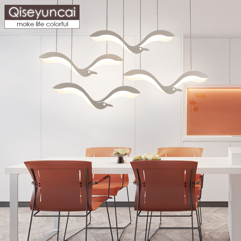 Qiseyuncai Modern minimalist creative seagull restaurant chandelier personality living room bar art bedroom lightingQiseyuncai Modern minimalist creative seagull restaurant chandelier personality living room bar art bedroom lighting