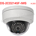 Multi-language DS-2CD2145F-IWS 4MP Mini Dome Network IP security Camera POE  wifi CCTV camera H.265 built-in SD Card Slot IP67