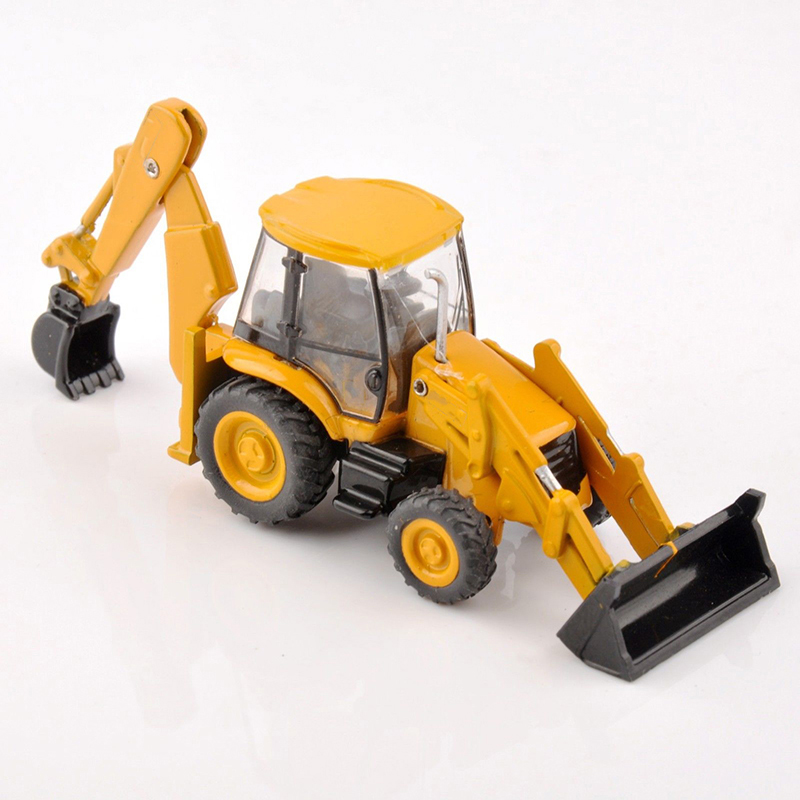 1 87 3CX 4T multifuctional excavator bulldozer model loader construction vehicles children cheap toys gifts in Diecasts Toy Vehicles from Toys Hobbies