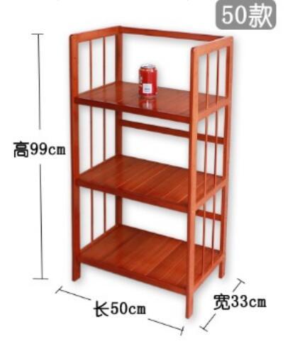 99*50*33cm Children Bamboo Wood Bookcase Three-Layer Book Storage Shelf Living Room Storage Rack ...