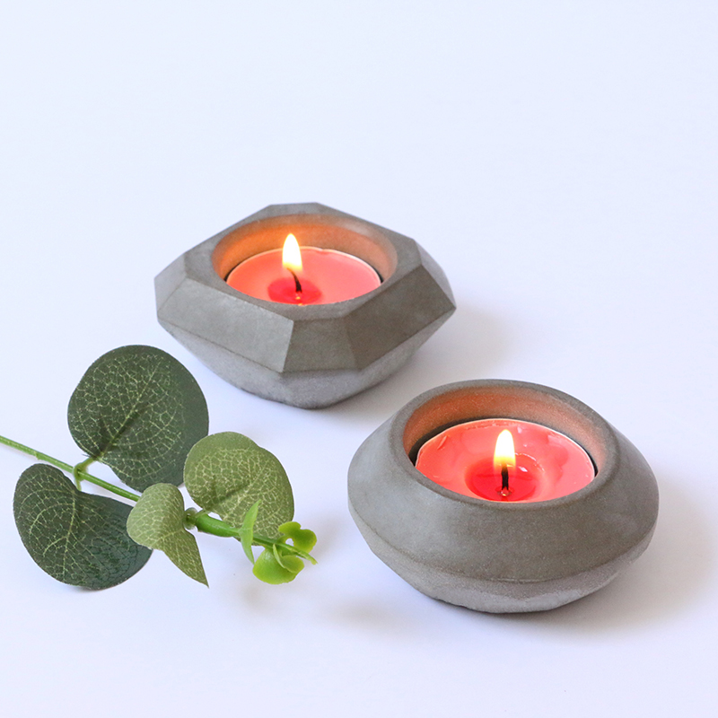 Concrete Candle Holder Molds Silicone Candlestick Molds Silicone MouldSimple Home Office Cement Mold Simple Geometry