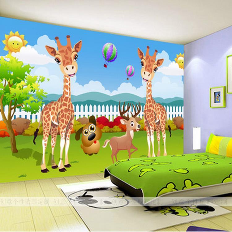 Castle Wall Wallpaper Kid Room 3d Hd Custom 3d Photo Wallpaper Creative Cartoon Deer Wallpaper