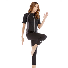 2019 New Women Hot Sweat Sports Suits Running Sets Slimming Fitness Yoga Sweating Gym Clothes