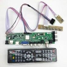 범용 tv 보드 dvb t2 ds d3663lua 지원 DVB T2/T/C lvds 케이블이있는 러시아어 40pin 1ch 6 비트 366346