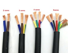 15 AWG 1.5MM2 RVV 2/3/4/5/6/7/8/10/12/14/16/18 Cores Pins Copper Wire Conductor Electric RVV Cable Black