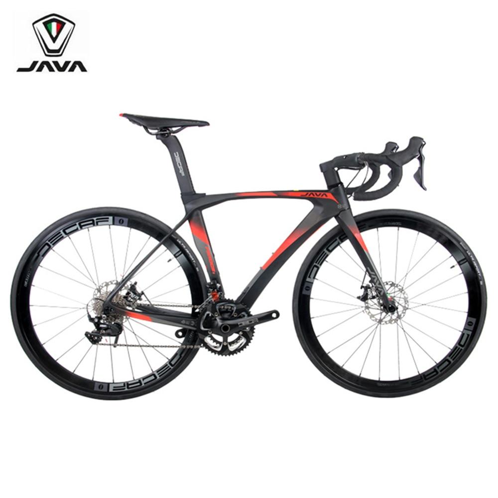 JAVA Feroce Carbon 700C Road Bike With 105 R7000 Shifter Aluminum Wheels 22 speed Hydraulic Disc