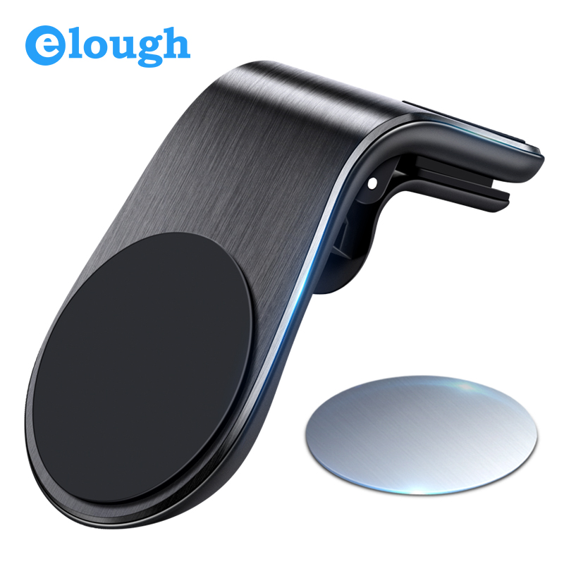 Elough Magnetic Car Phone Holder Cell Phone Stand Magnet For Phone Mobile Support Universal GPS Display Air Vent Car Holder
