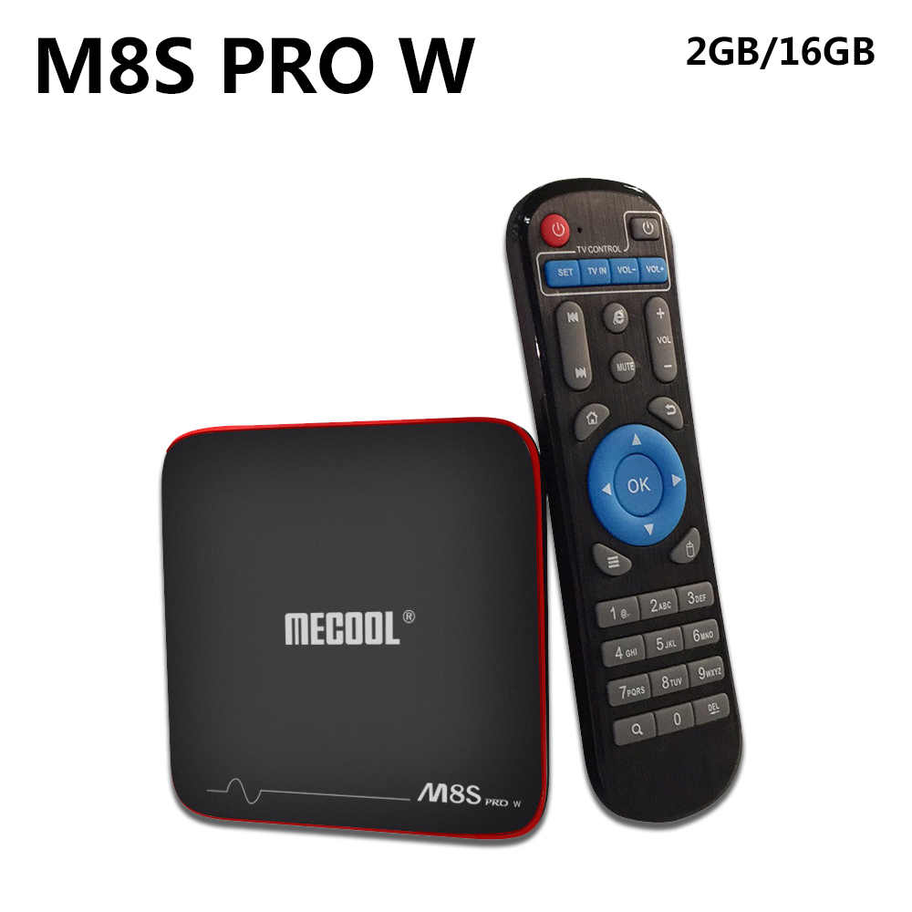 Mecool M8S Pro W Smart TV Box Amlogic S905W CPU Quad Core 2GB RAM DDR4 16GB Android 7.1 TV Box 2.4G Hz WiFi 4K H.265 Set Top Box