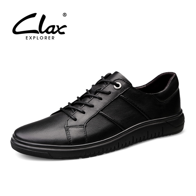 CLAX Men 39 s Shoes Genuine Leather Casual Shoe Male Leather Sneakers Spring Autumn Walking Footwear Fashion Leather Shoe Soft in Men 39 s Casual Shoes from Shoes