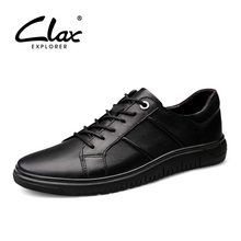 CLAX Men's Shoes Genuine Leather Casual Shoe Male Leather Sneakers Spring Autumn Walking Footwear Fashion Leather Shoe Soft цена