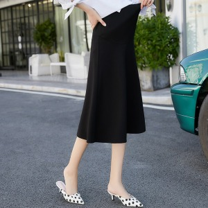 Image 5 - 2020 new fashion Korean version of the stretch maternity skirt stomach lift skirt skirt dress