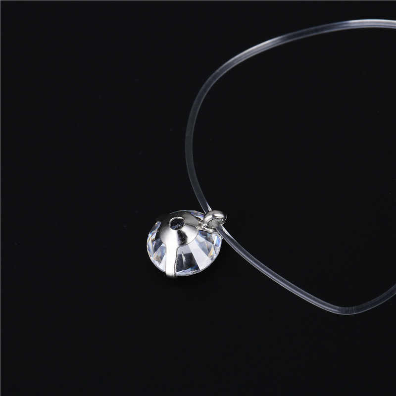 2018 Nova sereia lágrima colar pingente Meteorito de linha de pesca transparente Invisível colar clavícula cadeia de Jóias das mulheres