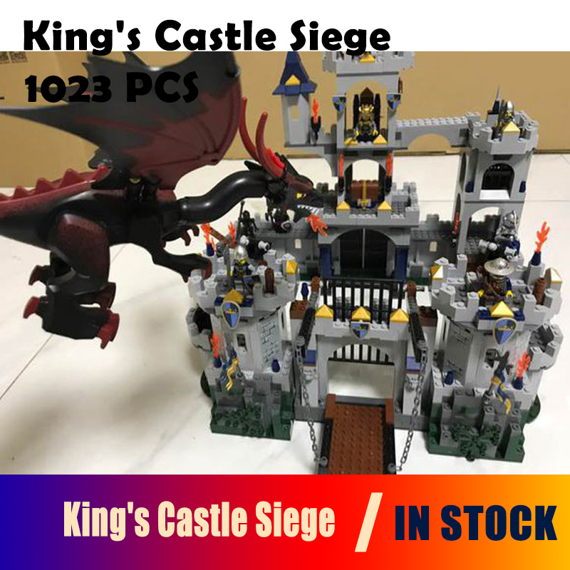 Model building blocks 16017 Compatible with Lego Castle Series 7094 1023pcs King's Castle Siege Figure bricks toys for children compatible with lego ninjagoes 70596 06039 blocks ninjago figure samurai x cave chaos toys for children building blocks