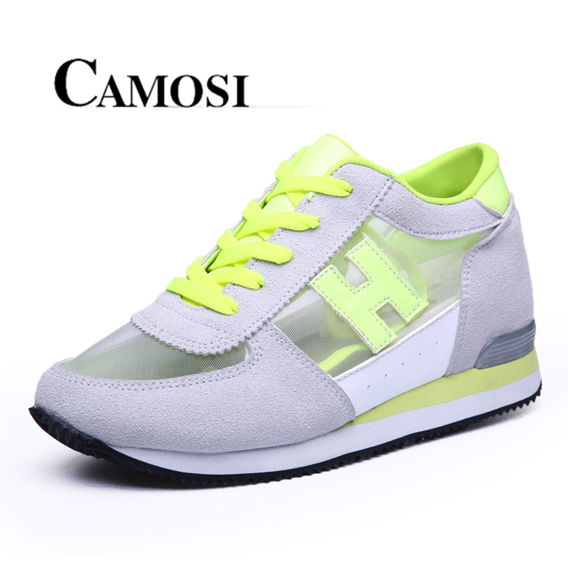 cd15ecfb4c0 Camosi 2016 Summer Womens Height Increasing Shoes Woman Sneakers Wedges tenis  feminino casual Mesh young Style platform shoes