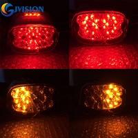 Harley led tail light Running Lights/Brake Lights/Yellow Turn signal Lights for Harley XL FLH FX Sportster Dyna Road King