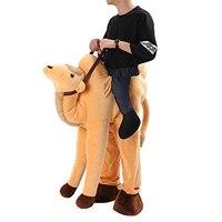 Camel Ride On Mascot Costumes Men Carry Back Oktoberfest Velour Camel Carrier Costume Animal Pants Funny Dress Yellow Mardi Gras
