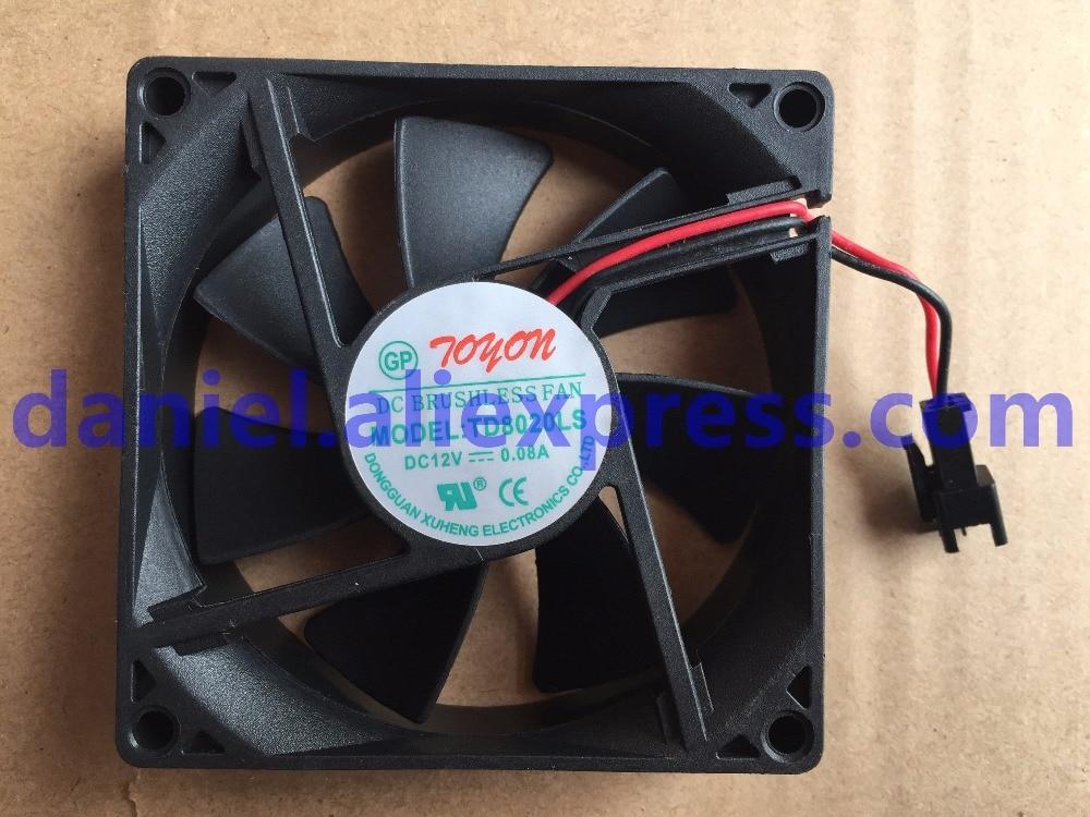 New Original TD8020LS 12V 0.08A 8CM Drinking Water Fan 80*80*20MM Silent Fan
