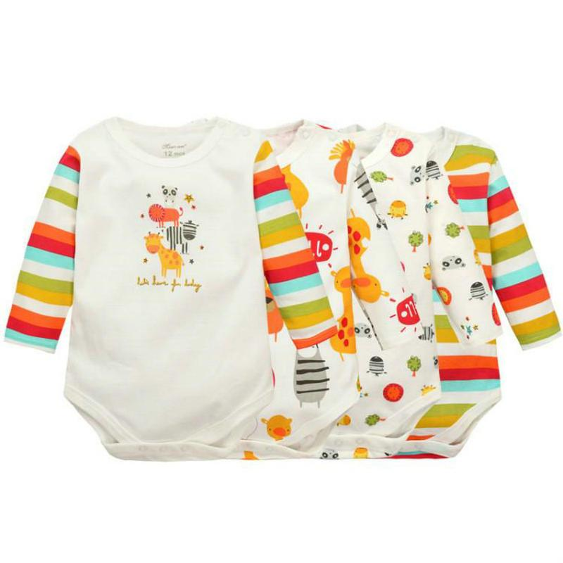 Baby Boys Girls Long Sleeved Rompers 2017 Nyfödda Barnkläder Barnkläder Jumpsuit & Rompers KF010