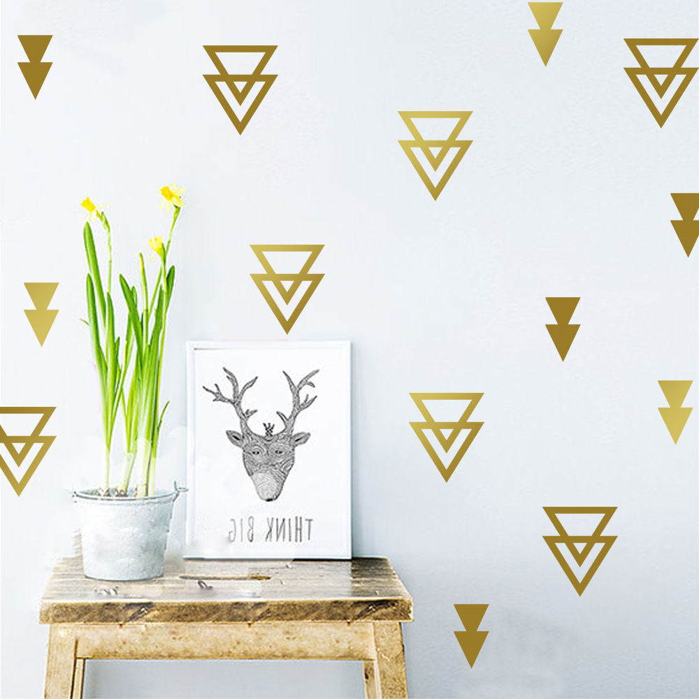 48pcsset nordic style diy geometry triangle wall stickers for 48pcsset nordic style diy geometry triangle wall stickers for kids room baby nurdery room decor wall art decal mural a698 in wall stickers from home amipublicfo Gallery
