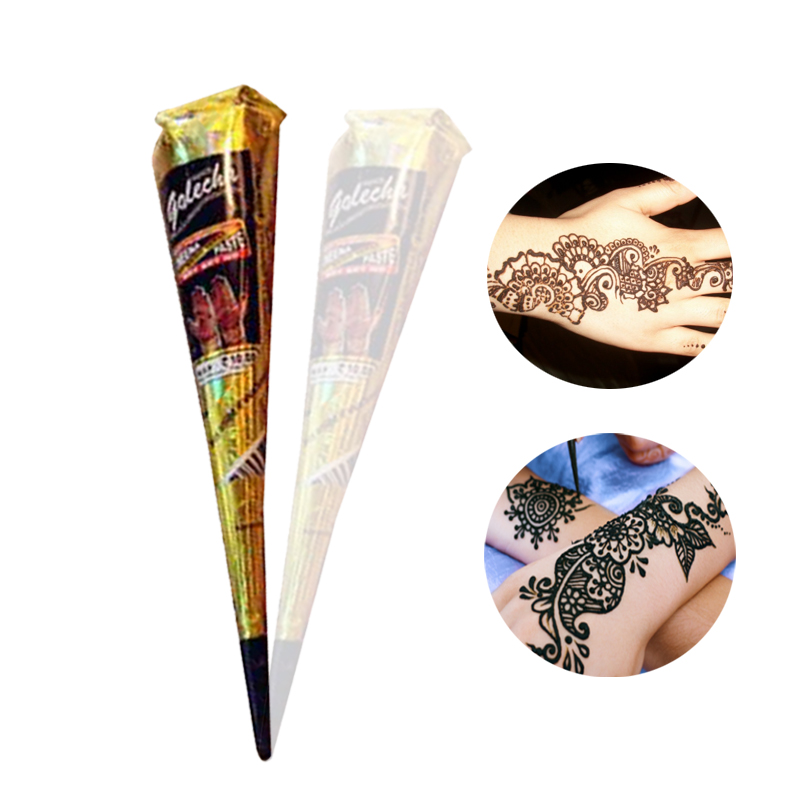 Henna Tattoo Paint Natural Indian Drawing Body Paint Drawing Black ...