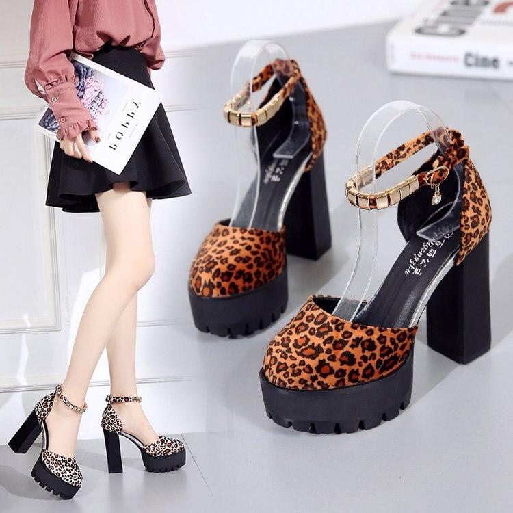 Ladies Sandals Wedges Shoes Footwear High-Heels Woman Feminina Mujer Leopard for Lady