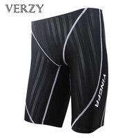Waterproof Men swimming trunks Brand mens swimwear Drawstring shorts Swimsuits Training Competition swimming suit