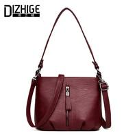 DIZHIGE Brand Middle Zipper Crossbody Bags Women Small Shoulder Bags Soft PU Leather Women Messenger Bag