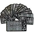 1 x Nuevos Diseños de Encaje Mixto Stamping Nail Art Placas Imagen XYJ01-16 Plantilla Stencil Herramientas de la Manicura de Uñas de Acero Inoxidable