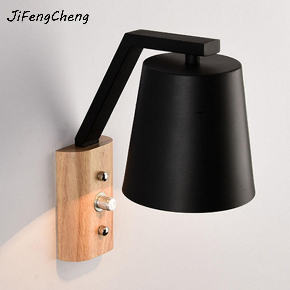 JiFengCheng Nordic Wooden Wall Light luminaria wall