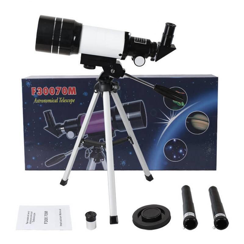 150X Professional Astronomical Monocular Telescope Refractive 300/70mm HD Spotting Scope Telescope with Tripod Kids Gift цена