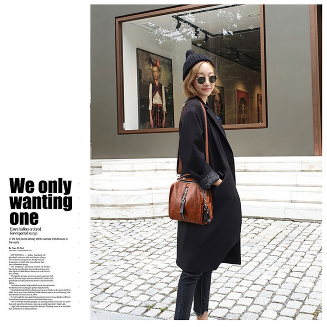 Glorria Luxury Cow Leather Handbags Women Bags Designer Fashion Shoulder Crossbody Bag for Women Multifunction Bag Big Tote Sac 4
