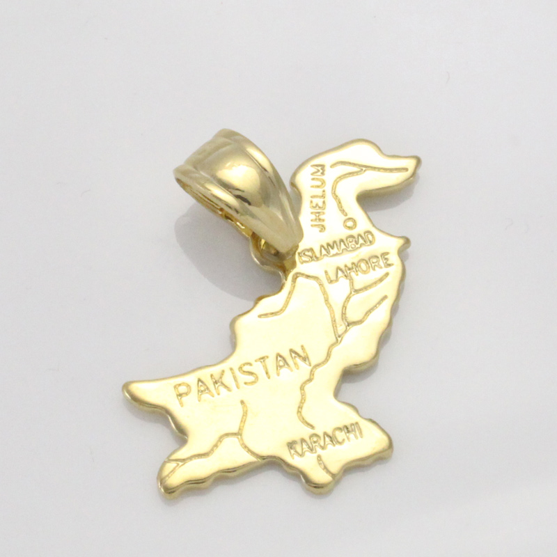Detail Feedback Questions about zkd Pakistan map copper pendant