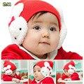 Da criança do bebê crianças meninas meninos Ear Flap inverno quente Hat Beanie Cap Crochet coelho