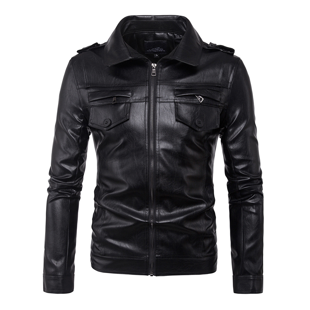 Herobiker Retro Motorcycle Jacket Men PU Leather Jacket Classical Zipper Casual Punk Windproof Moto Jacket Motorcycle Clothing