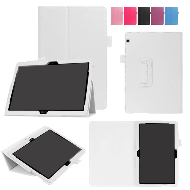 new arrival b7be4 e2b6d For huawei MediaPad T3 10 Litchi Grain PU Leather Stand Flip cover case For  Huawei MediaPad T3 10 AGS-L09 AGS-L03 9.6 '' tablet