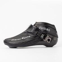 2018 طبعة CITYRUN مضمنة السرعة الزلاجات أحذية التمهيد العلوي بطل الرمز البريدي قفل ألياف الكربون سباق المنافسة EUR 30 إلى 45 18 CT