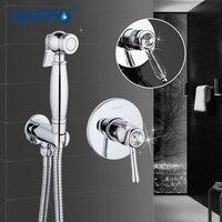 Gappo 1Set Brass Bathroom Bidet Faucet Toilet Sprayer Toilet Washer Taps Restroom Mixer Taps Muslim Shower