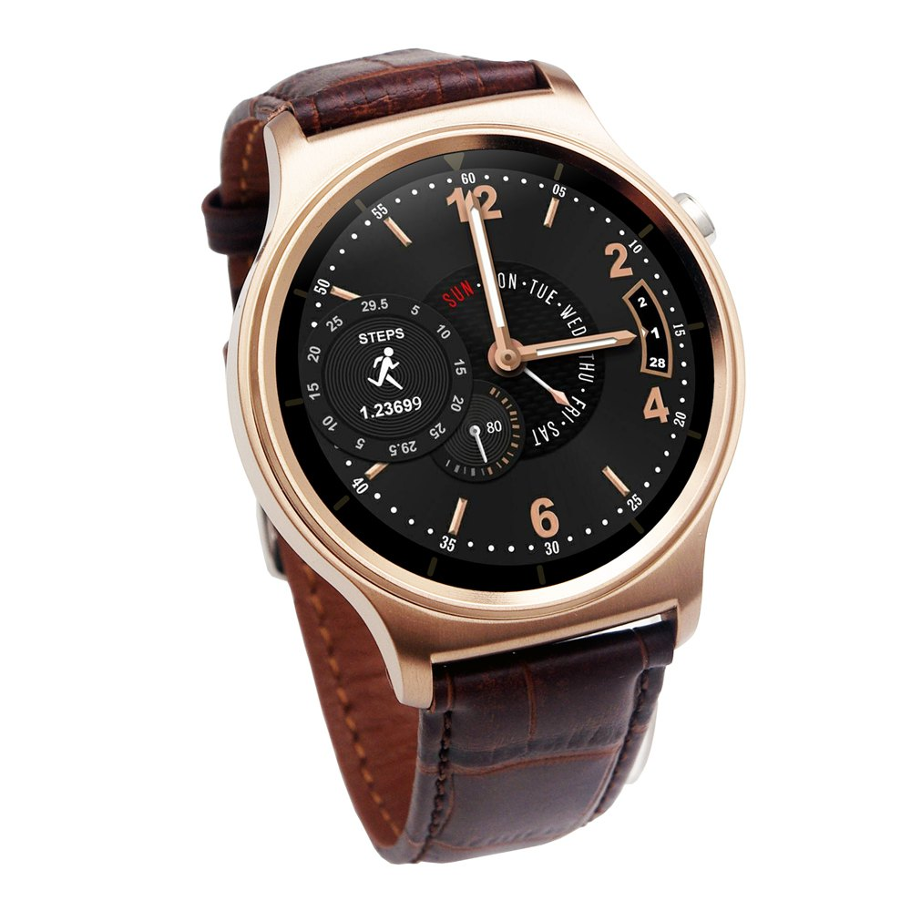 ФОТО Fashion Style GW01 Smart Watch Bluetooth 4.0  IPS Round Screen Life Waterproof Sports Wristband Watch for Android IOS