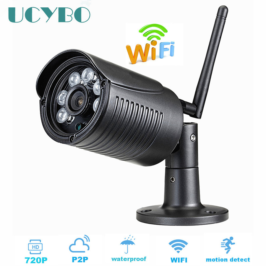 Security IP camera WIFI Wireless 720p HD Megapixel Outdoor Onvif P2P CCTV IP Cam network IR TF SD Card Slot surveillance system outdoor ip camera wifi megapixel 720p hd security cctv ip cam ir infrared sd card slot p2p v380 bullet kamera