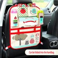 Cartoon Baby Children Stowing Tidying Car Seat Storage Bag Hanging Bags Car Seat Back Bag Multifunction Storage Bag Organizer