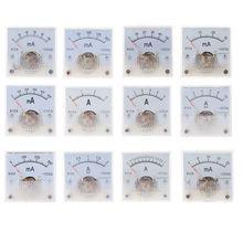 Механический амперметр DC аналоговая панель измерителя тока механический указатель Тип 1A/2A/3A/5A/10A/20mA/30mA/50mA/100mA/200mA/300mA/500mA