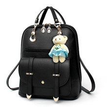 Fashion Small Women Backpack Female School Bags for Teenage Girls Mini Pu Leather Bookbag 2018 Cute