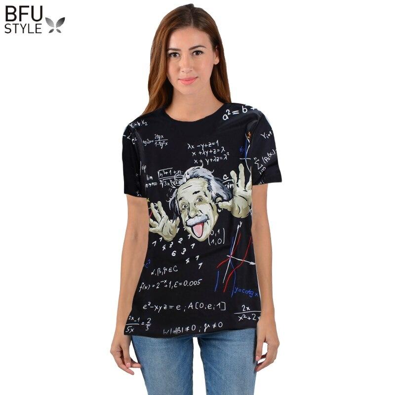 Mathématiques Science T-shirt Pour Garçon/fille Graphique 3d T-shirt Hommes/femmes Drôle Imprimer Einstein T-shirt Casual Tops grande Taille Chemise Mens