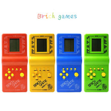 Children Toys Classic Handheld Game Machine Tetris Brick Kids with Music Playback 1pc
