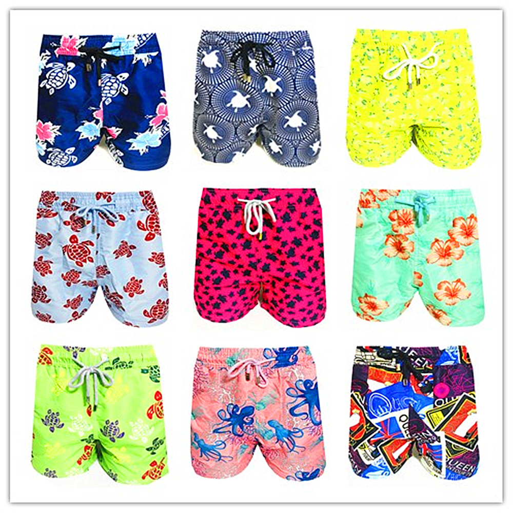 BREVILE PULLQUIN Brand Men Board Shorts Turtle Beach Boxer Trunks Shorts Bermuda Sexy 100% Quick Dry Male Swimwear Swimsuits