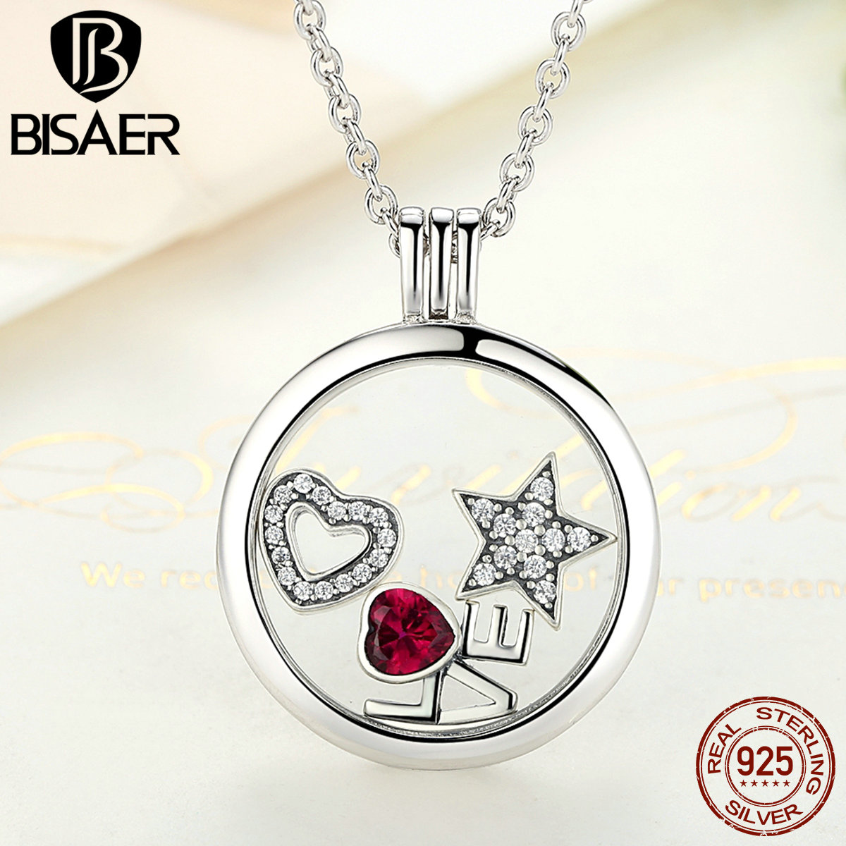 Memory Pendant Necklace Genuine 100% 925 Sterling Silver Medium Floating Locket Necklaces & Pendants Jewelry Making Accessories
